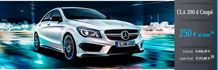 Oferta Mercedes CLA 200d con Mercedes-Benz Alternative